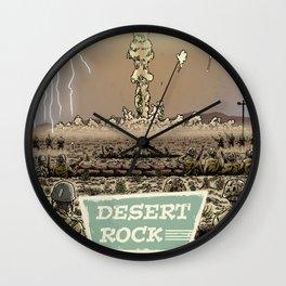 Atomic Vacation at Desert Rock Wall Clock