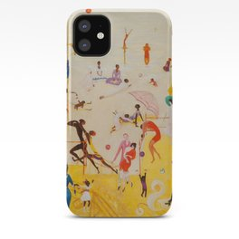 African American Masterpiece 'Summertime, Asbury Park, South' by Florine Stettheimer iPhone Case