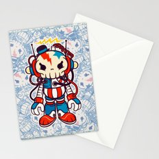 skull bolt machine Stationery Cards