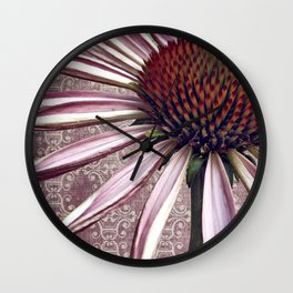 coneflower chic Wall Clock