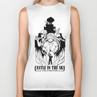 castle in the sky Biker Tanks featuring Castle in The Sky - 1 by LinhBR