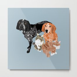 Lady, Blue, Leo and Butch Metal Print