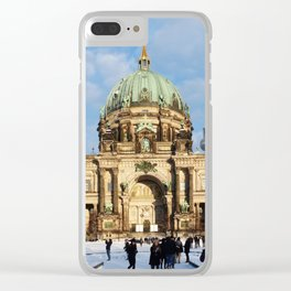 Snowy Berlin Cathedral Clear iPhone Case