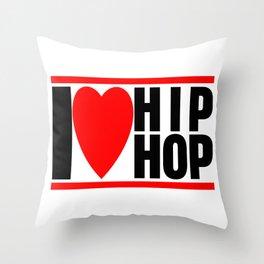 I love Hip Hop Throw Pillow