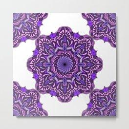 Ultraviolet mandala pattern Metal Print