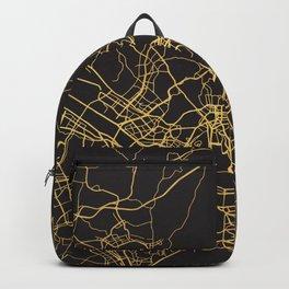 SEOUL SOUTH KOREA GOLD ON BLACK CITY MAP Backpack