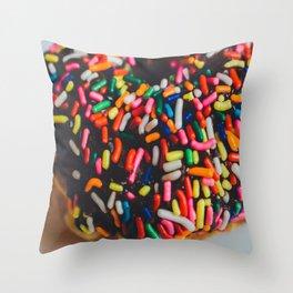 Rainbow Doughnut Throw Pillow