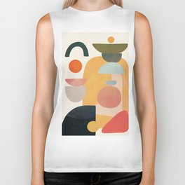 Modern Abstract Art 70 Biker Tank