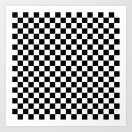 Black Checkerboard Pattern Art Print