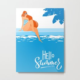 Hello Summer (2) Metal Print