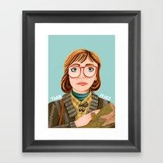 Log Lady Framed Art Print
