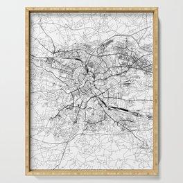 Krakow White Map Serving Tray