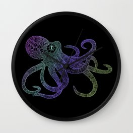 Mechanical Octopus (color version) Wall Clock