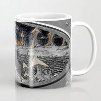 mars Mugs featuring Mars by Andrew p Jones