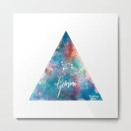 Gemini - Astrology Mixed Media Metal Print