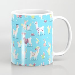 Alpaca Pattern Coffee Mug
