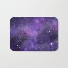 Purple Watercolor Space Pattern Bath Mat