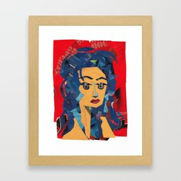 Medusa Woman Collage Portrait Framed Art Print