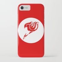 fairy tail iPhone & iPod Cases featuring Fairy Tail Segmented Logo circle by JoshBeck