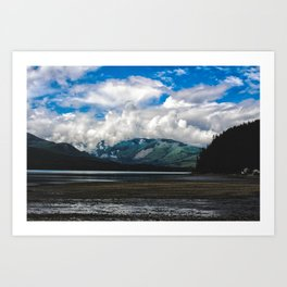 Clouds on the Hill Art Print