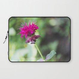 Pink Bee Balm Flower 1 Laptop Sleeve
