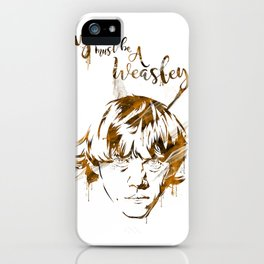 You must be a Weasley.. iPhone Case