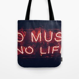 No Music No life Tote Bag