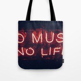 No Music No life Tote Bag