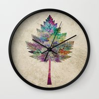 autumn Wall Clocks featuring Like a Tree 2. version by Klara Acel