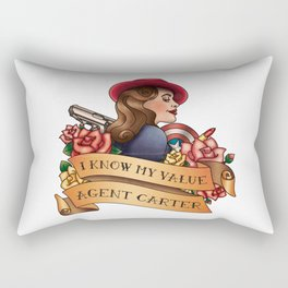 Agent Carter Vintage Tattoo Light Rectangular Pillow