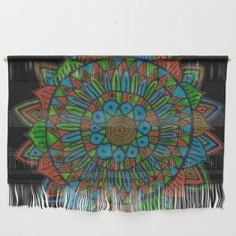 Glow Doodle Mandala Wall Hanging
