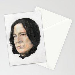 Severus Snape, Alan Rickman portraitoriginal art print Stationery Cards