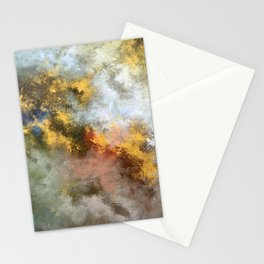 Colorful Abstract Clouds No.1 (left) Stationery Cards
