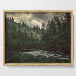 Pacific Northwest River - Nature Photography Serving Tray
