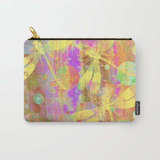 A Dragonflies and Dots Carry-All Pouch