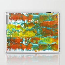 Palette Knife Daubs Orange & Blue Laptop & iPad Skin
