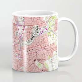 Vintage Map of Roanoke Virginia (1963) 2 Coffee Mug