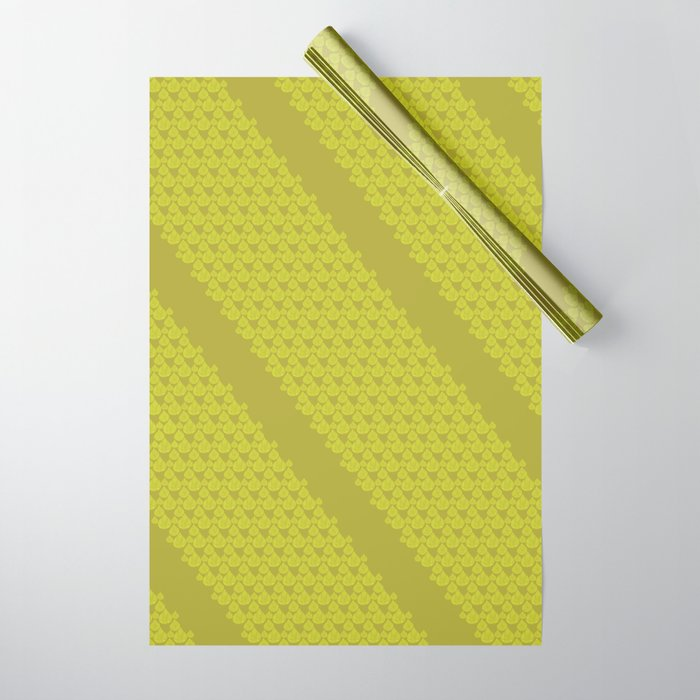 Green drops Wrapping Paper