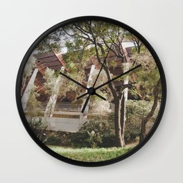 forest building Wall Clock
