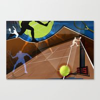 tennis Canvas Prints featuring Tennis by Robin Curtiss