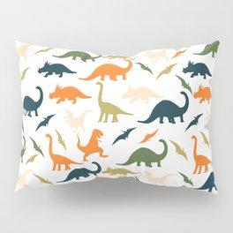Dinos in Pastel Green and Orange Pillow Sham