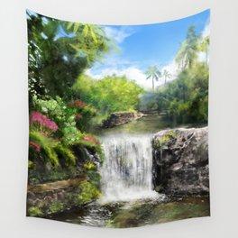 Hawaiian  Garden Wall Tapestry