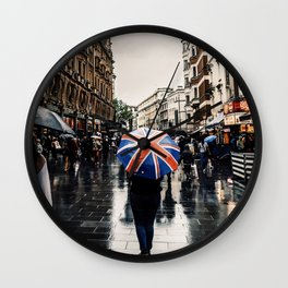 Rainy Day on the West End Wall Clock