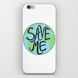 Save Me Earth Hand Drawn iPhone Skin