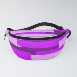 Purple Rectangular Abstract Fanny Pack