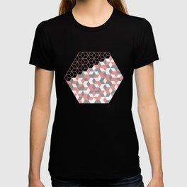 Hexagon(pink) #2 T-shirt