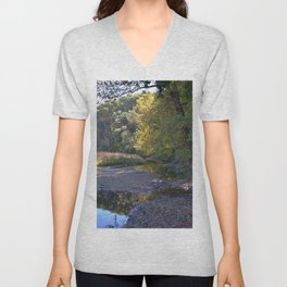 Where Canoes and Raccoons Go Series, No. 3 Unisex V-Neck