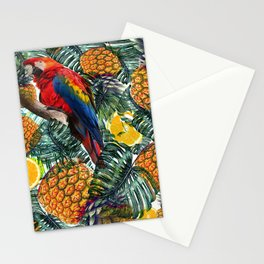 tropical paine Stationery Cards