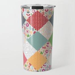 paper cut flower diamonds Travel Mug