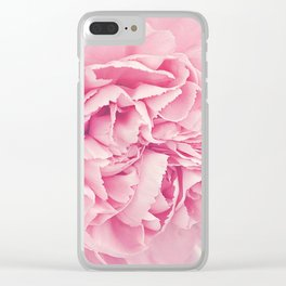 Pale Pink Carnations Clear iPhone Case